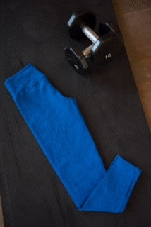 Blue Heavan Jacquard- Leggings