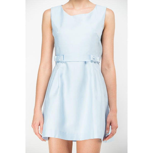 BABY BLUE SIDE BOW DRESS - RELIXON - 1