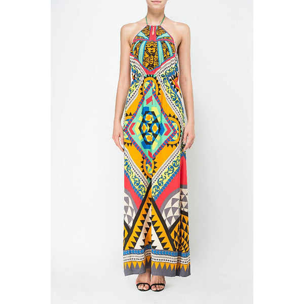 IREENA Tribal Print Beach Maxi Dress - RELIXON - 1