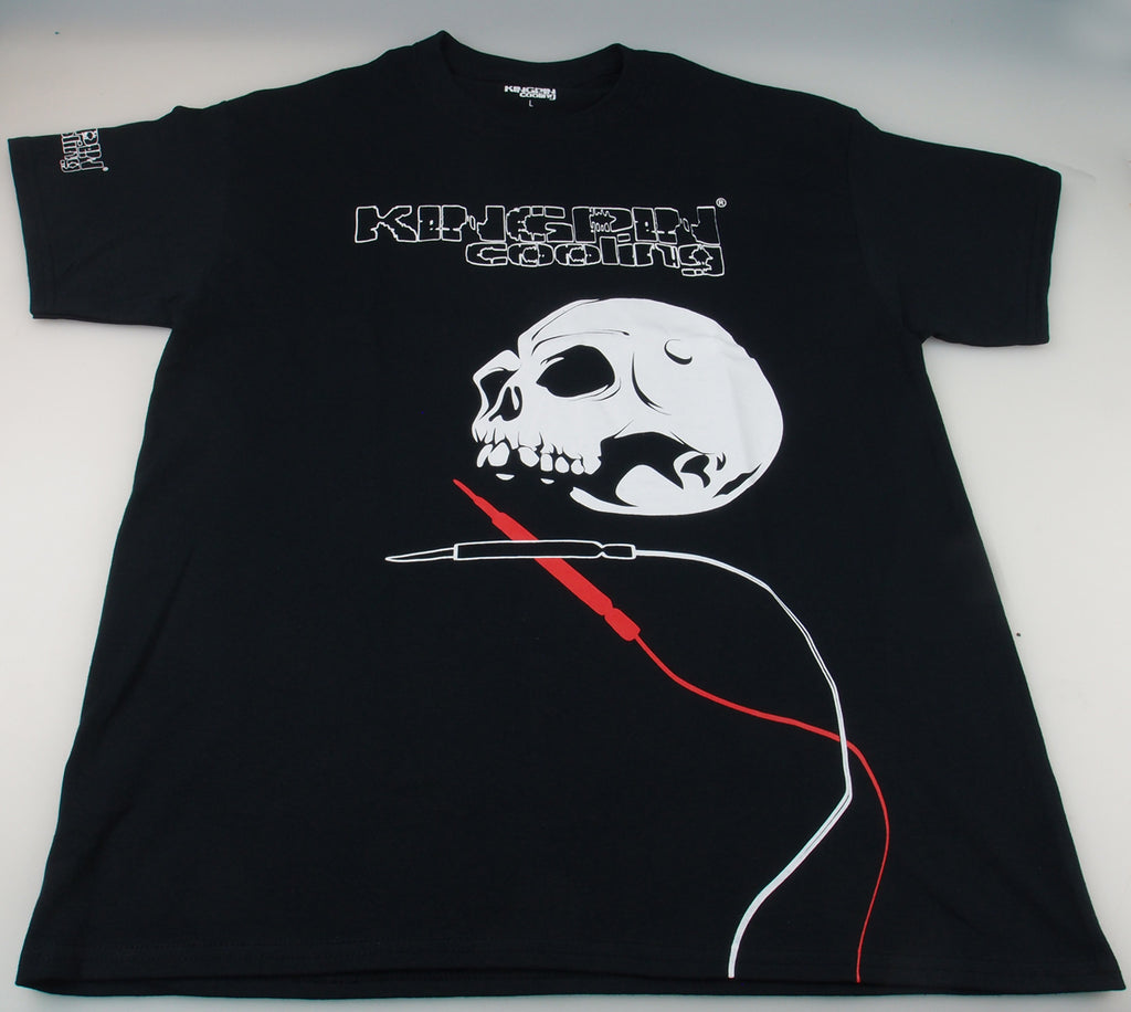 "KINGPIN COOLING black logo ""Old skull"" T-shirt"