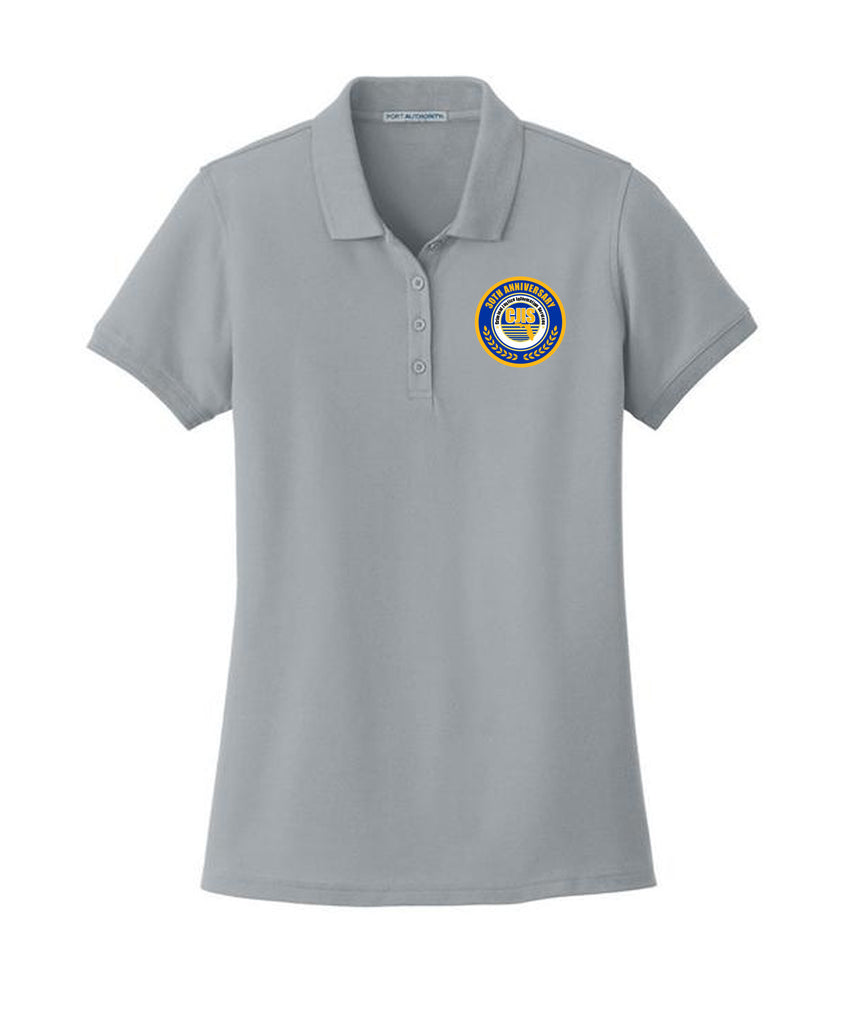 FDLE CJIS Symposium 30th Ann. Short Sleeve Logo Ladies Gusty Grey Polo