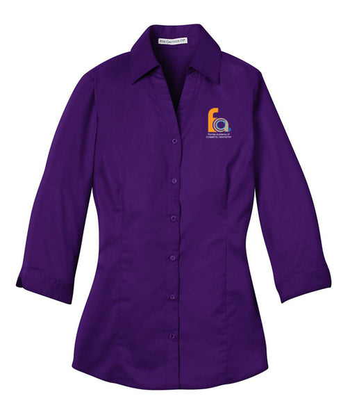 FACD Logo L6290  Port Authority® Ladies 3/4-Sleeve Blouse