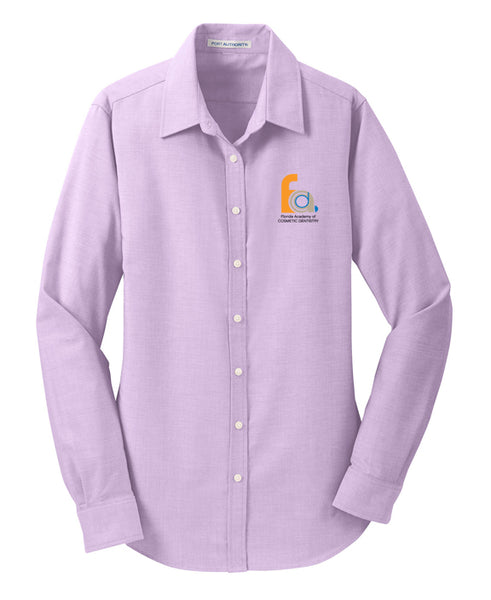 FACD Logo L658  Port Authority® Ladies SuperPro™ Oxford Shirt