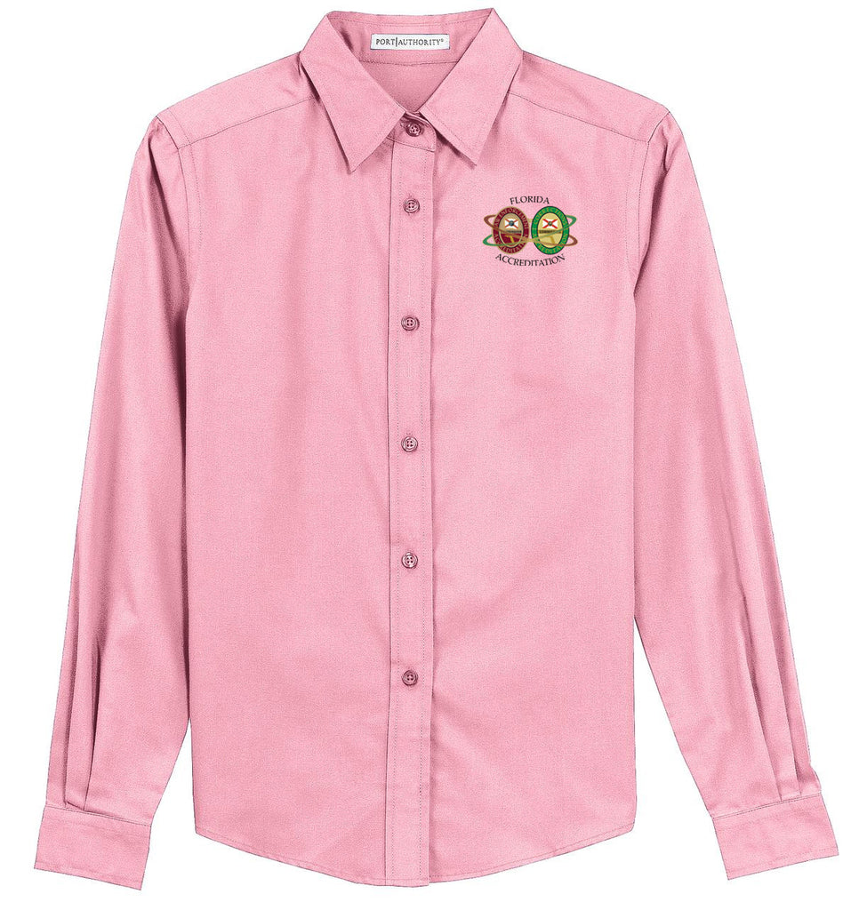 Florida Acceditation Office - Dual Logo - L608  Ladies Port Authority® Long Sleeve Easy Care Shirt