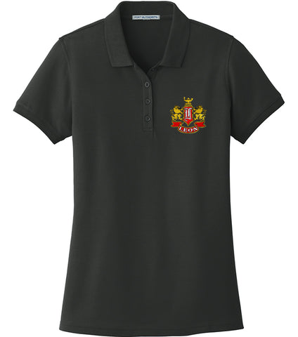 Leon Crest Embroidered Ladies Core Classic Pique Polo