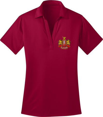 Leon Crest Embroidered Ladies Silk Touch Performance Polo