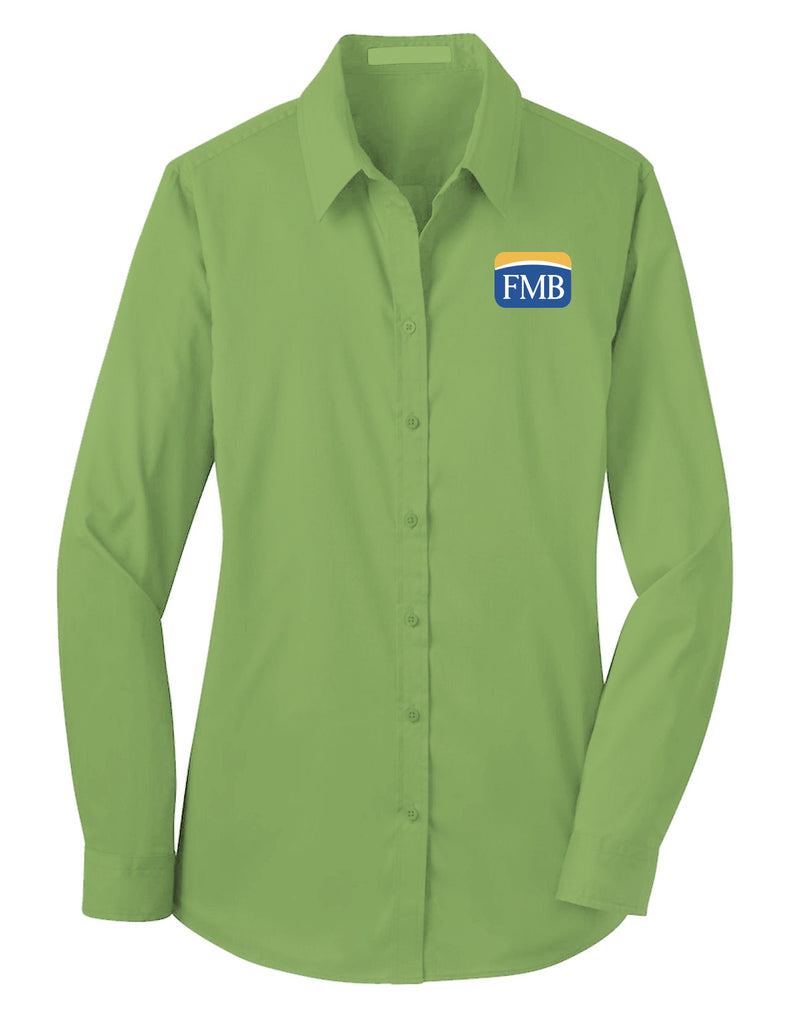 FMB Ladies Stretch Poplin Shirt