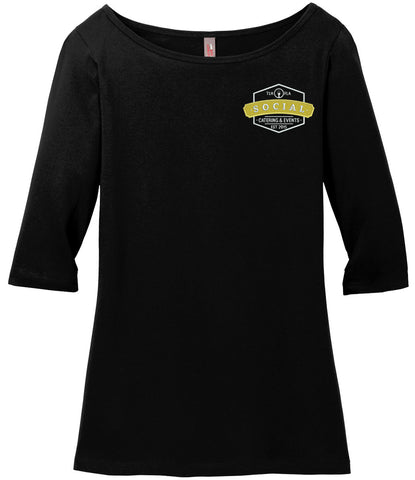 Social Catering & Events-Ladies 3/4 length tee