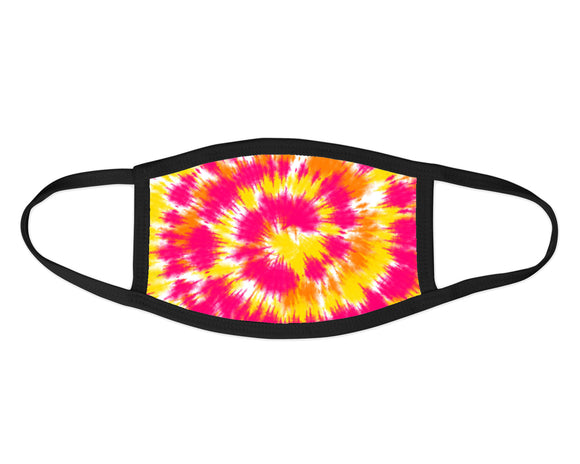 Pink, orange and yellow tie dye Face Mask