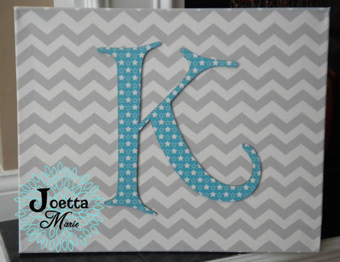 Monogram on Canvas