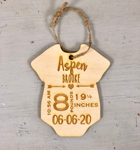 Baby memento ornament