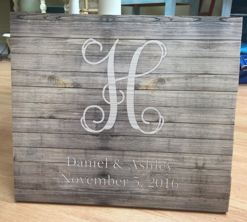 Personalized wood print