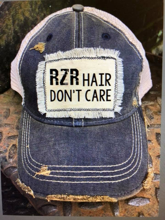 RZR Hair Don't Care Distressed Patch Hat