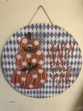 Wooden circle door hanger