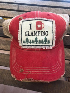 Glamping Distressed Patch Hat