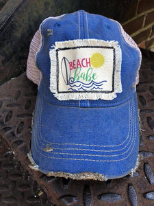 Beach Babe Distressed Patch Hat