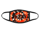 Tigers orange and black tie dye Face Mask