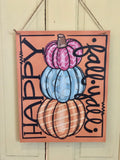 Seasonal Wooden Rectangle Door Hangers