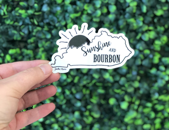 Sunshine and Bourbon Sticker