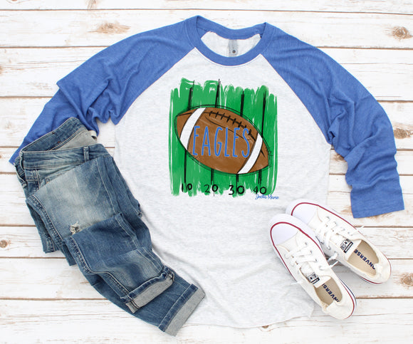 Eagles football raglan 3/4 sleeve