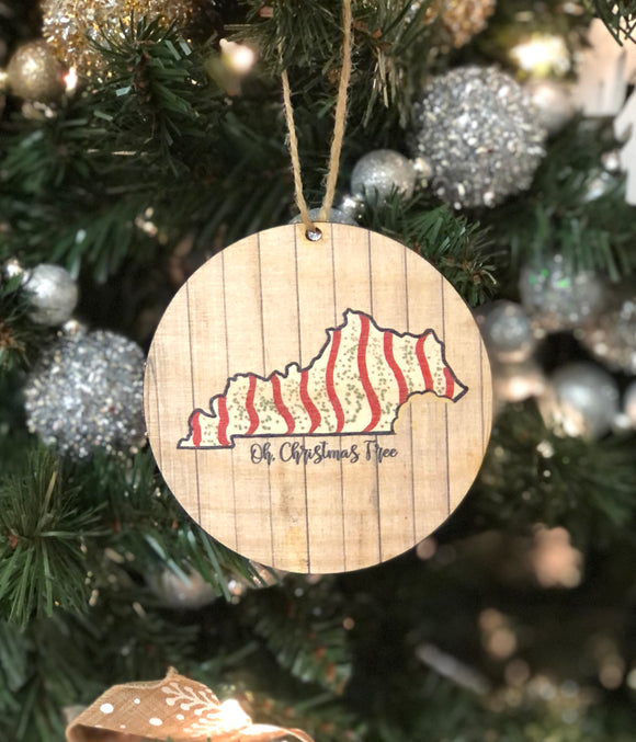 Wooden Ornament — Oh Christmas Tree