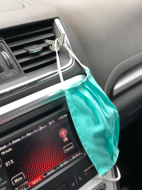 Car vent mask holder