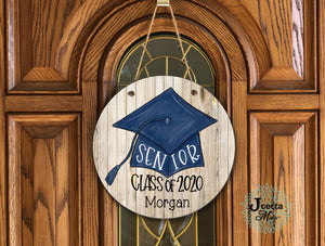 Graduate class of 2020 wooden door hanger