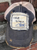 Fringe distressed hat