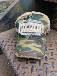 Fempire Fringe Distressed Hat