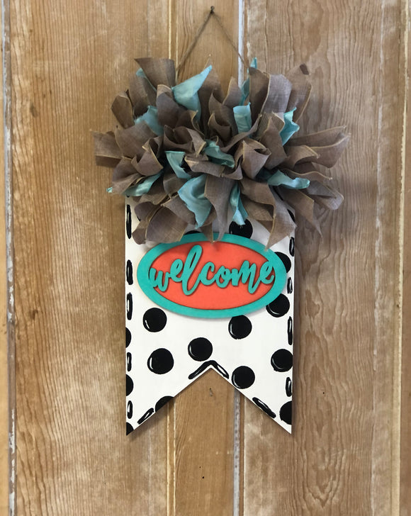 Welcome Banner Door Hanger DIY Kit