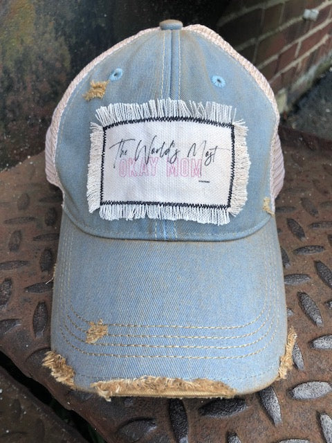 Distressed Patch Hat Felicia Delaney
