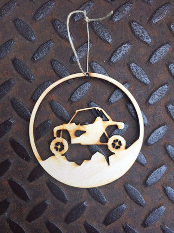 ATV wooden ornament