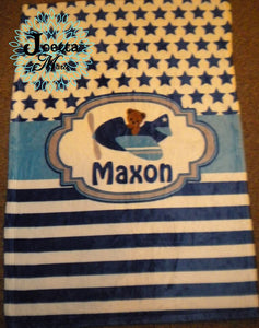 Personalized Velveteen Blanket