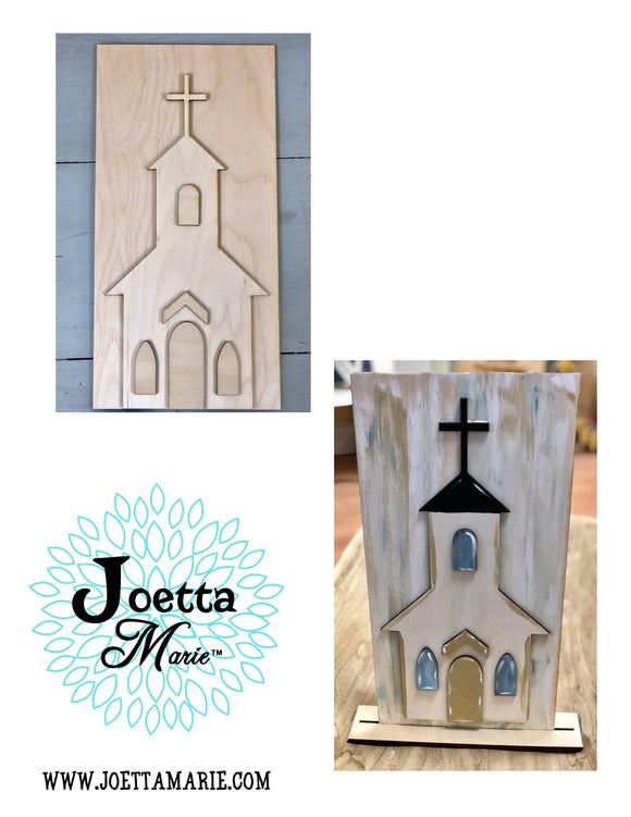 Wooden church DIY kit