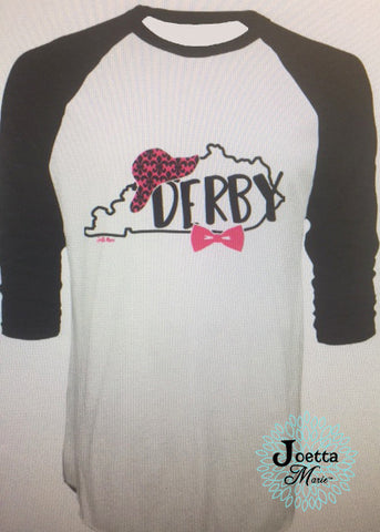 3/4 length raglan Derby tshirt