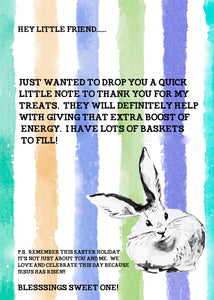 Easter Bunny Note Printable