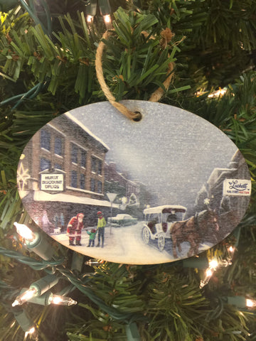 Wooden Downtown Bardstown ornament