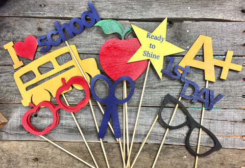 Back to school wooden photo props
