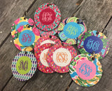 "Coxs Creek Fundraiser Wooden 3"" circle keychains...10 patterns"