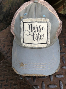 Distressed Patch Hat