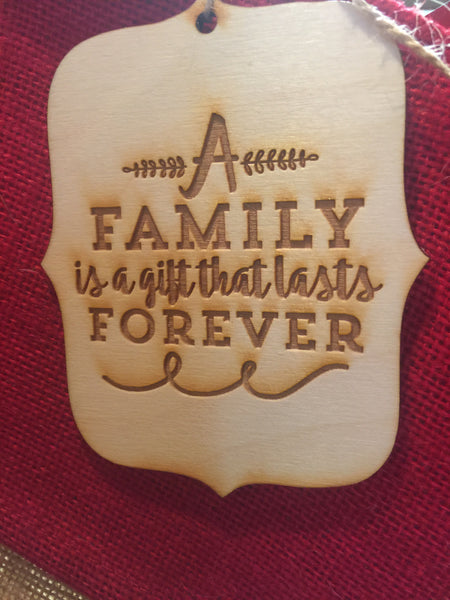 Wooden engraved ornaments