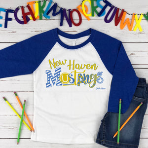 New Haven 3/4 raglan Toddler and Youth