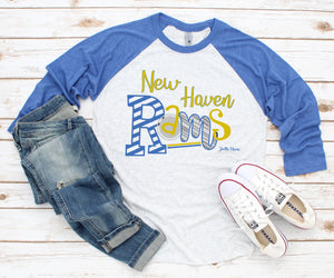 New Haven Rams 3/4 raglan