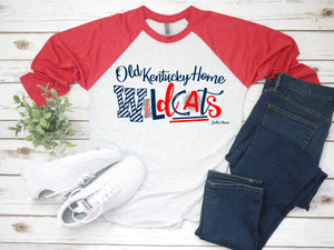 OKH Wildcats (red sleeve) 3/4 raglan