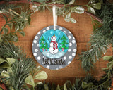 Round wooden ornaments 4""