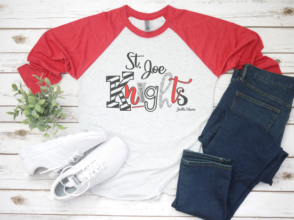 St Joe Knights 3/4 raglan