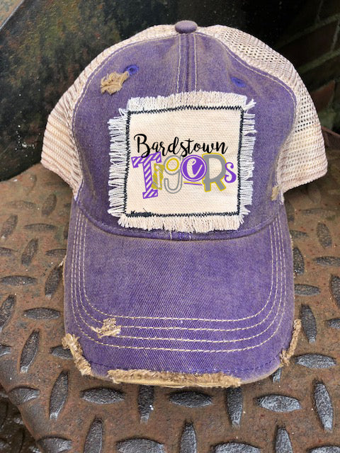 Distressed Patch Hat  Bardstown Tigers