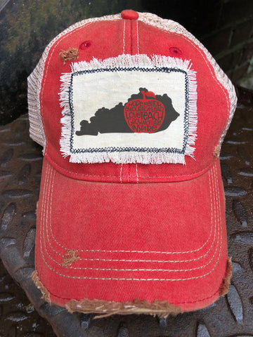 Coxs Creek Fundraiser Distressed Patch Trucker Hat