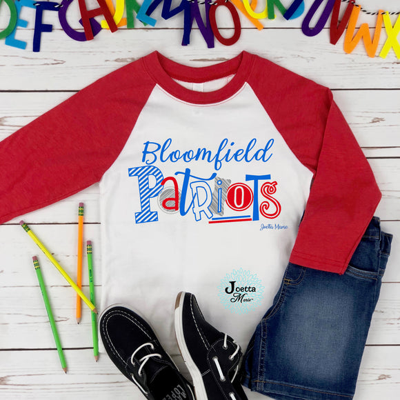 Bloomfield 3/4 raglan Toddler and Youth
