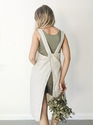 'Everyday' Linen Apron - Natural